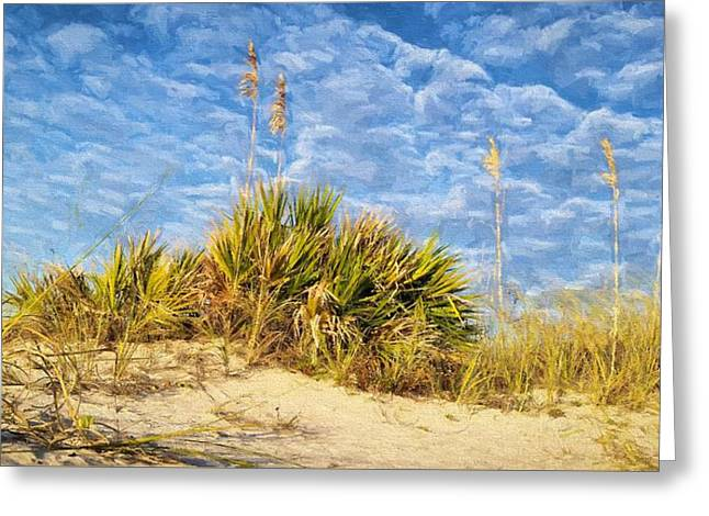 In The Dunes Of South Walton Greeting Card by JC Findley