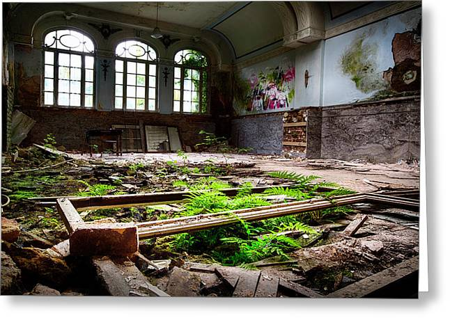 In The End Nature Always Wins - Urbex Abandoned Building Greeting Card