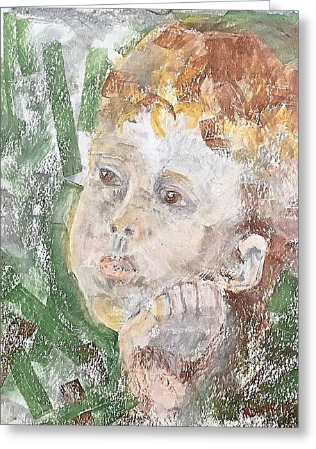 Greeting Card featuring the pastel In The Eyes Of A Child by Norma Duch