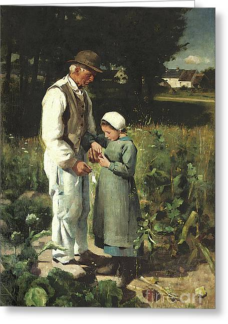 In The Fields, Anvers Sur Oise, 1882 Greeting Card