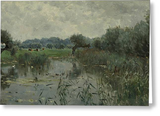 In The Floodplains Of The River Ijssel Greeting Card