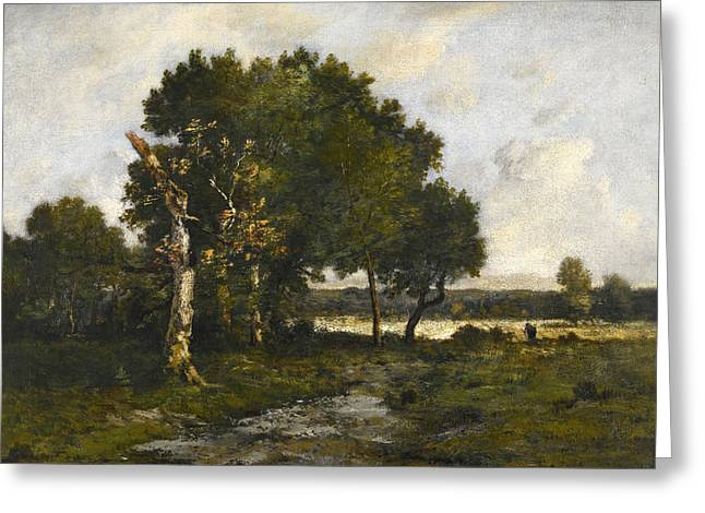 In The Forest Of Fontainebleau Greeting Card