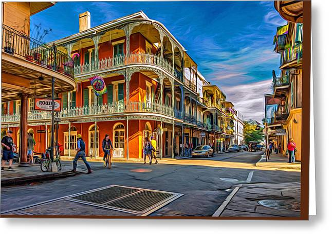 In The French Quarter - 2 Paint Greeting Card by Steve Harrington