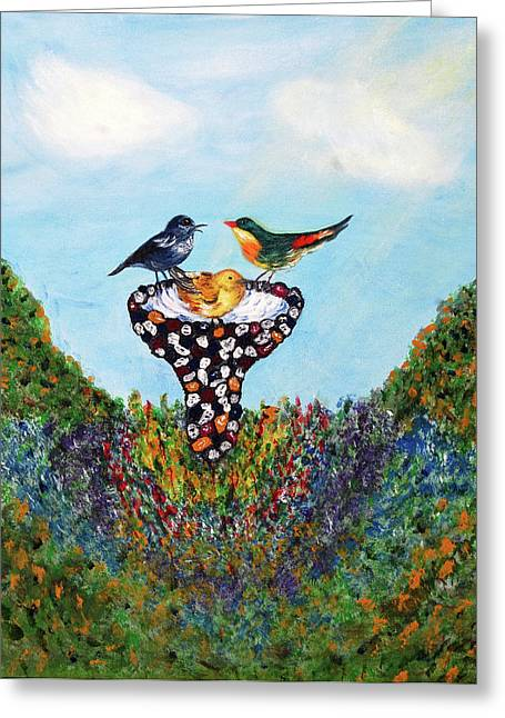 In The Garden Greeting Card by Ann Ingham