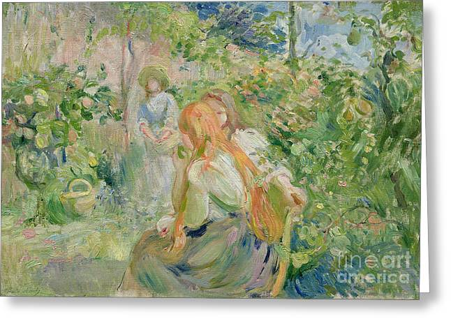 In The Garden At Roche Plate Greeting Card