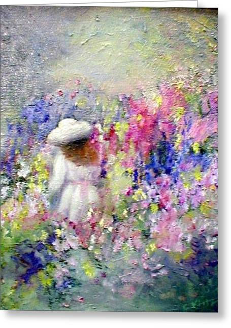 In The Garden Greeting Card by Gail Kirtz