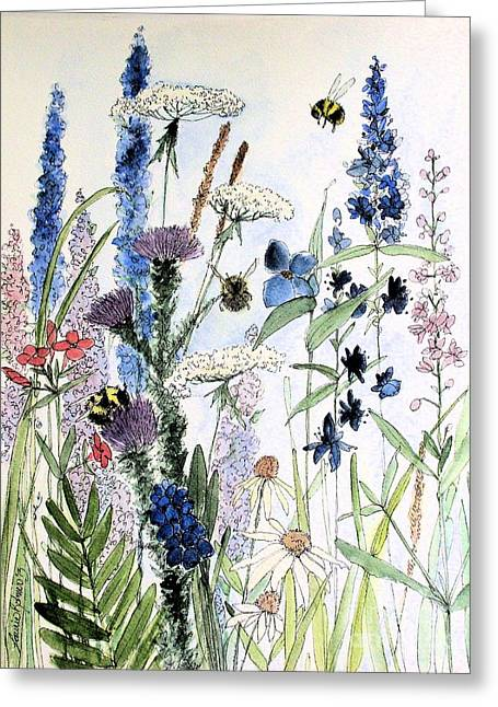 In The Garden Greeting Card by Laurie Rohner