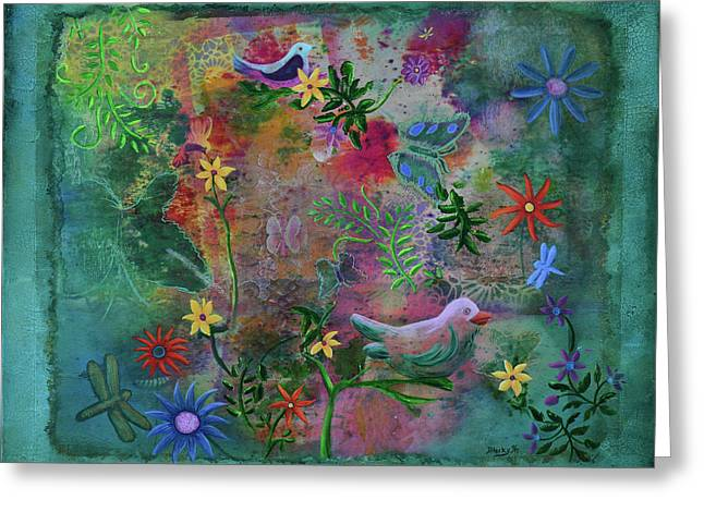 In The Garden Of My Imagination Greeting Card