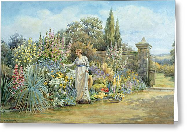 In The Garden Greeting Card by William Ashburner
