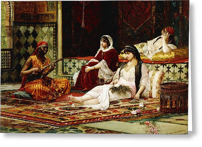 In The Harem Greeting Card by Filippo Baratti