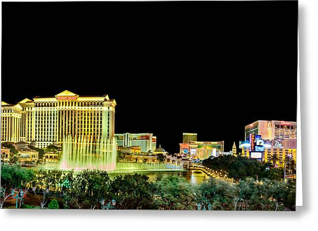 In The Heart Of Vegas Greeting Card by Az Jackson