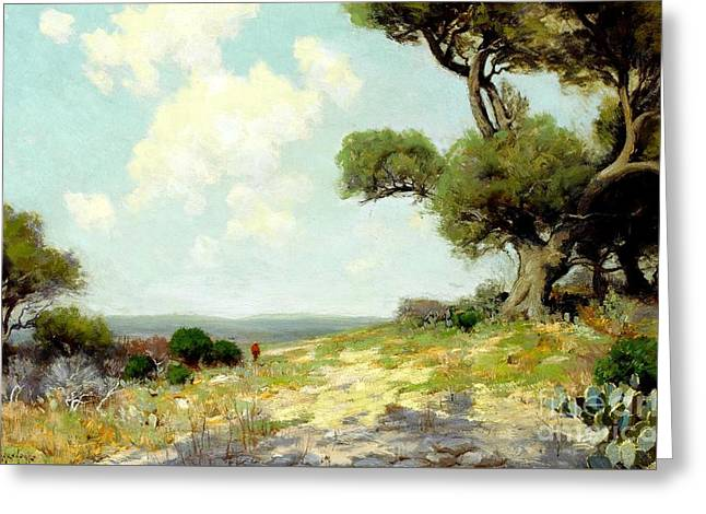 In The Hills Of Southwest Texas 1912 Greeting Card