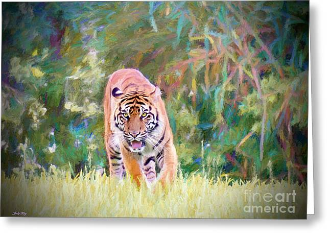In The Jungle Greeting Card by Judy Kay