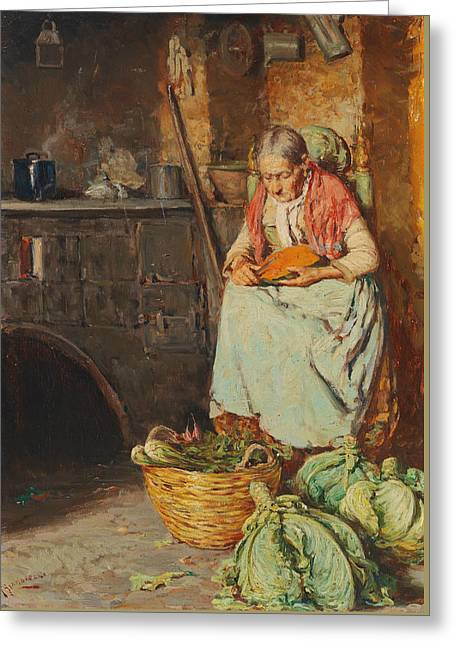 In The Kitchen Greeting Card by Giuseppe Giardiello