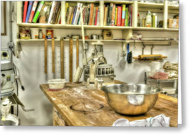 In The Kitchen Greeting Card