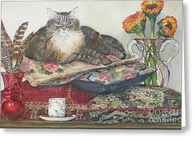 In The Lap Of Luxury Greeting Card by Jane Loveall