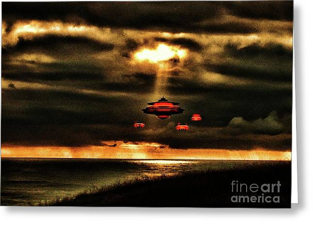 In The Light By Raphael Terra Greeting Card