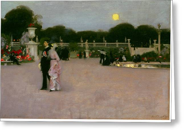In The Luxembourg Gardens Greeting Card by John Singer Sargent