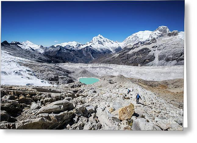 In The Middle Of The Cordillera Blanca Greeting Card