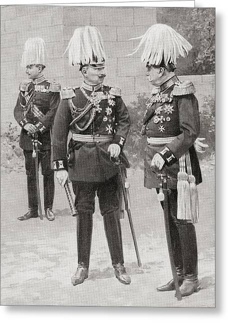 In The Middle, Wilhelm II Or William Greeting Card