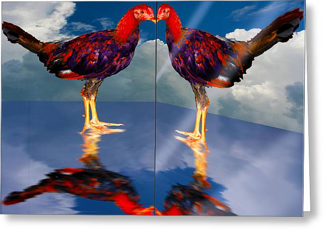 In The Mirror Greeting Card by John Breen