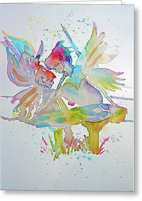 In The Mist Greeting Card by Mindy Newman
