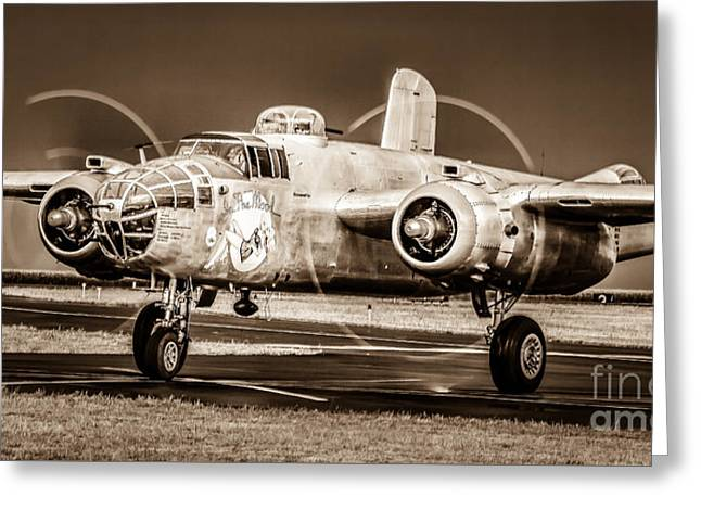 In The Mood - B-25 II Greeting Card by Steven Reed