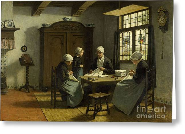 In The Orphanage At Katwijk-binnen Greeting Card by Celestial Images