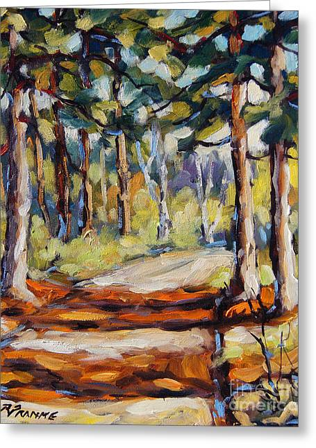 In The Pines Orginal Art By Prankearts Greeting Card by Richard T Pranke