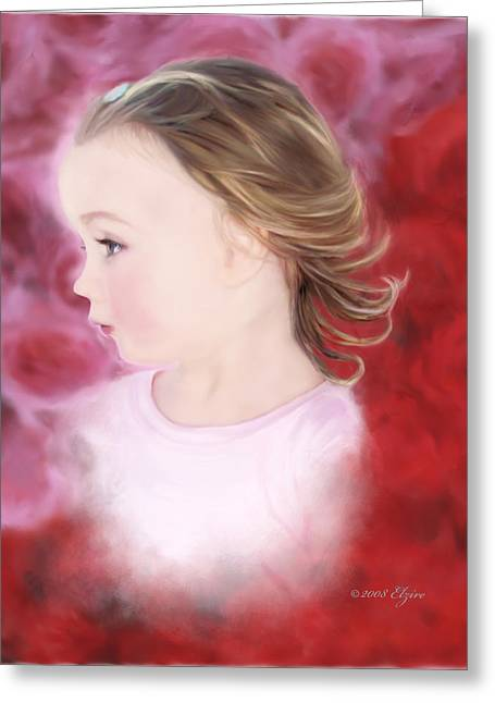 In The Pink Greeting Card by Elzire S