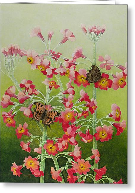 In The Pink Greeting Card by Pat Scott
