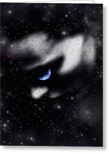 Greeting Card featuring the digital art In The Quiet Of Your Mind by ISAW Company