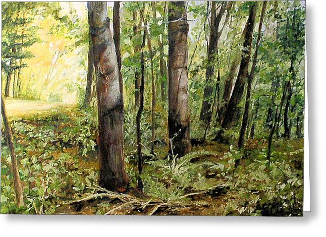 In The Shaded Forest  Greeting Card