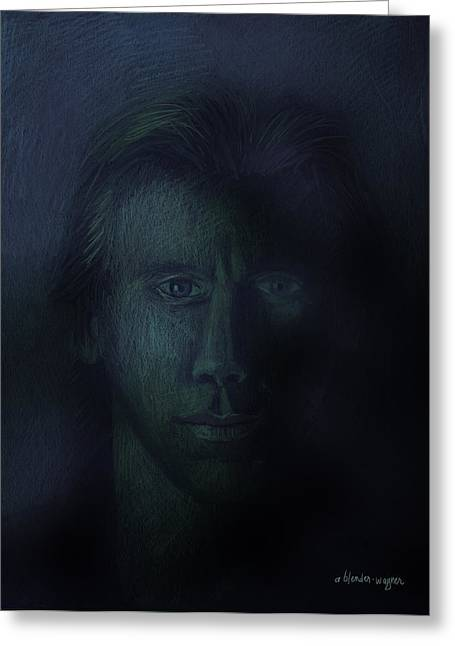 In The Shadows Of Despair Greeting Card by Arline Wagner