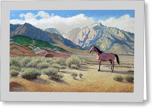 In The Sierras Greeting Card
