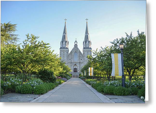 In The Spring At Villanova Greeting Card by Bill Cannon