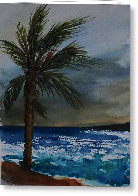 In The Storm Greeting Card by Yvonne Kinney