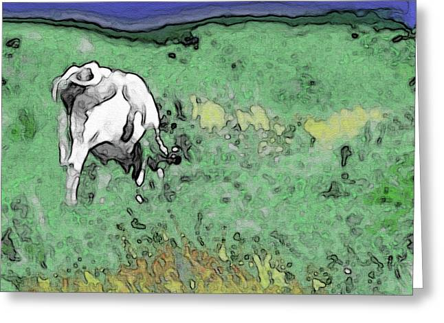 In The Sweet Fields Greeting Card