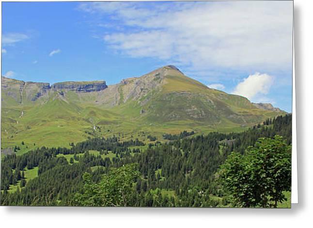 In The Swiss Alps Jungfrau Region Greeting Card