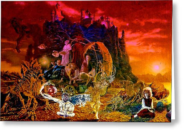 In The Theater Of Time Greeting Card by Henryk Gorecki