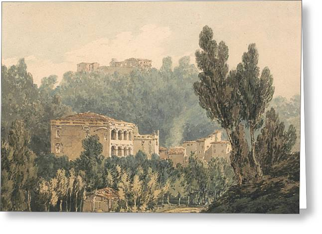 In The Valley Near Vietri Greeting Card by Joseph Mallord William Turner