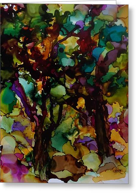 In The Woods Greeting Card by Alika Kumar