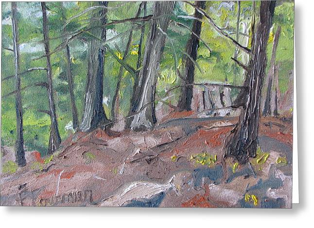 In The Woods No2 Greeting Card by Francois Fournier