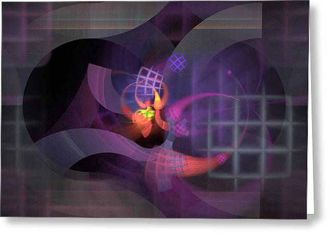 In The Year Of The Tiger - Fractal Art Greeting Card by NirvanaBlues