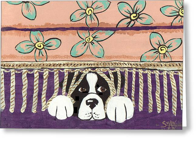 In Trouble Greeting Card by Sue Ann Thornton