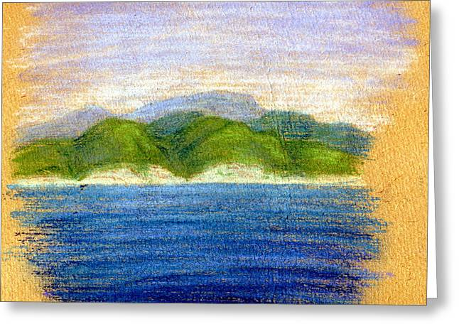 Reserve Pastels Greeting Cards - In view of Tuapse Greeting Card by Alexandra Cook