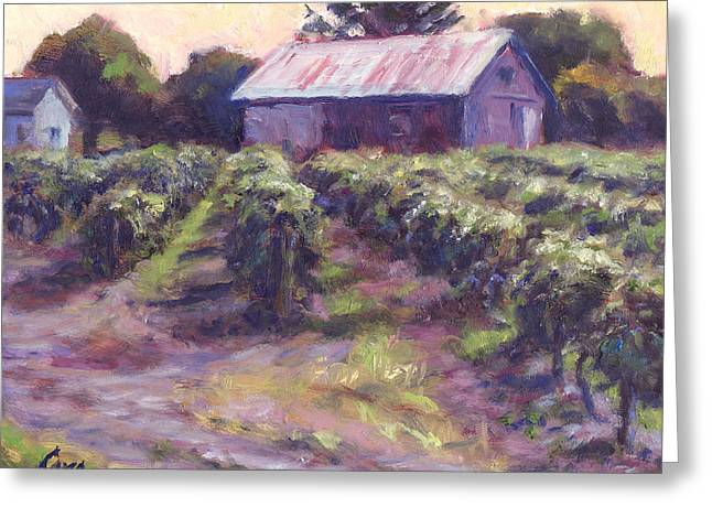 In Wine Country Greeting Card by Michael Camp