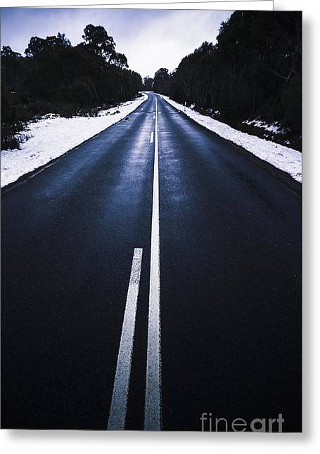 In Winters Travel Greeting Card by Jorgo Photography - Wall Art Gallery
