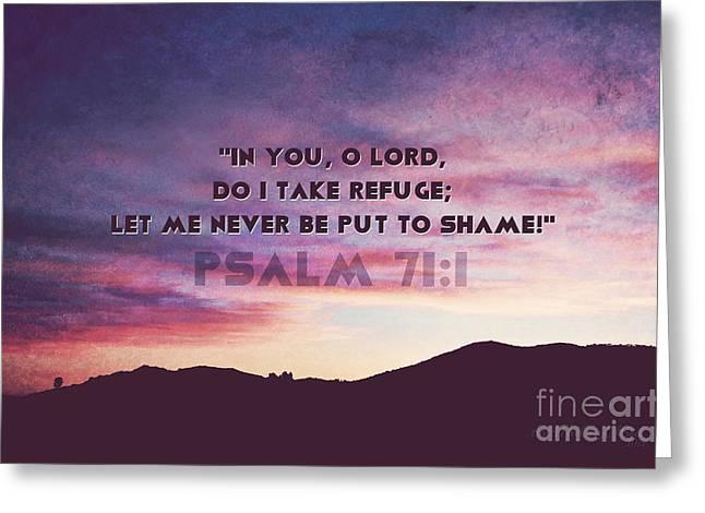 In You I Take Refuge Greeting Card