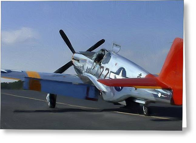 Tuskegee Airman Greeting Cards - Ina The Macon Belle Greeting Card by Steven Richardson